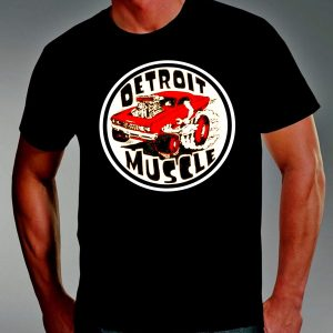detroit muscle mens red